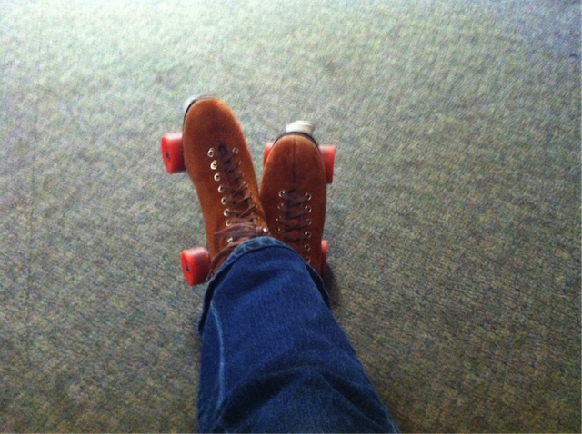 Like Brown Suede Rental Skates